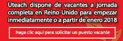 Uteach - Solicitar un puesto vacante