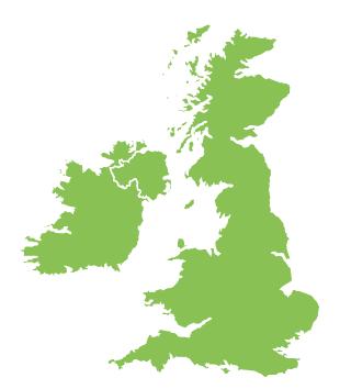 mapa del Reino Unido