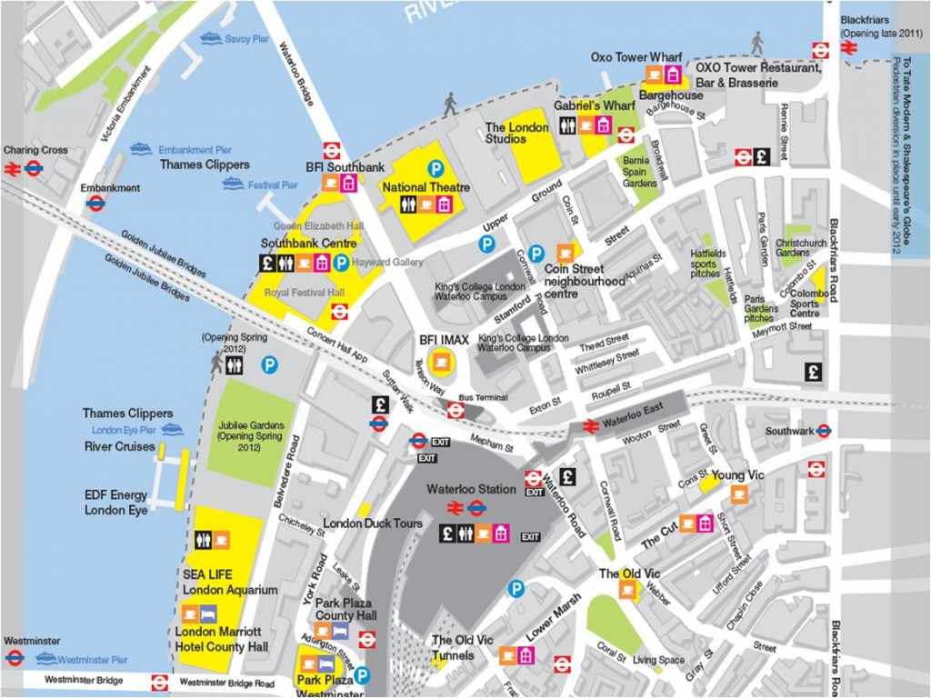 Southbank map