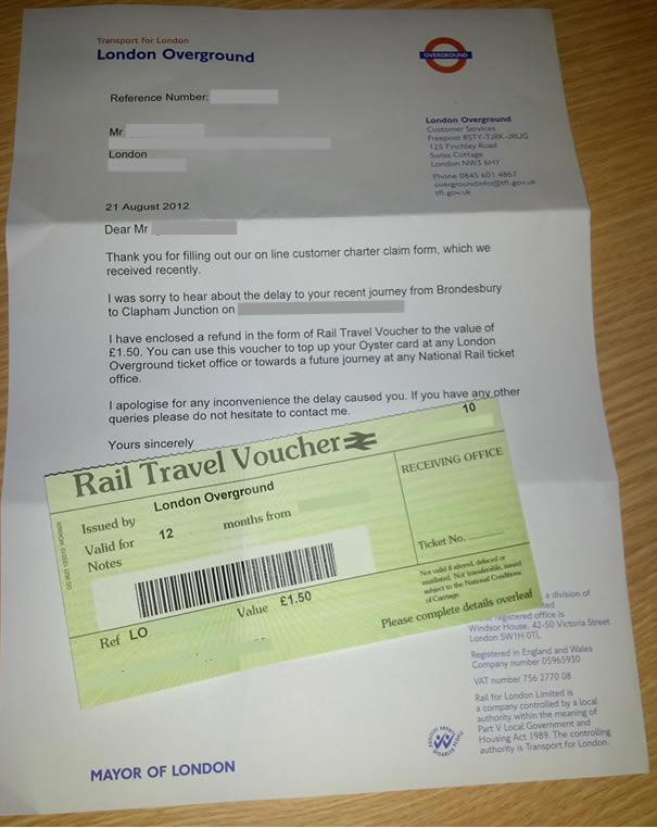 TFL refund - overground