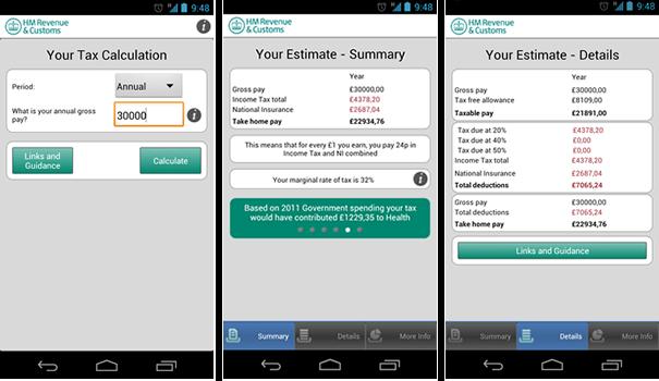 HMRC Tax Calculator app