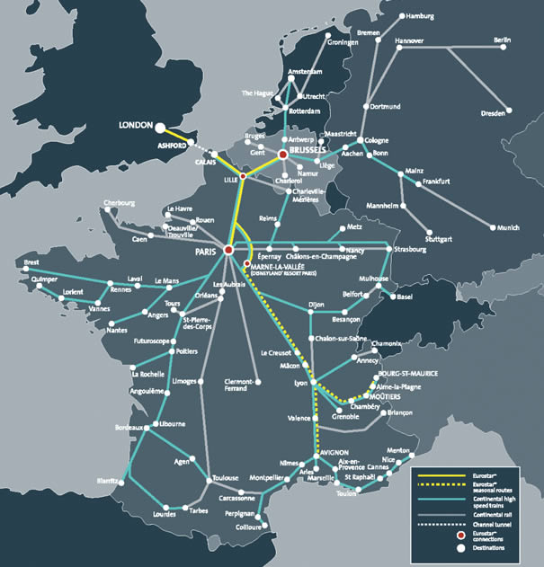 Eurostar destinations
