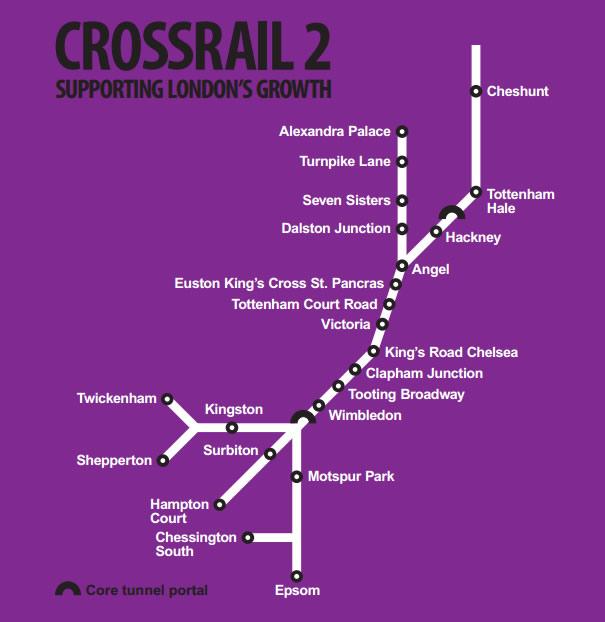 Nueva línea de metro - Londres - Crossrail 2