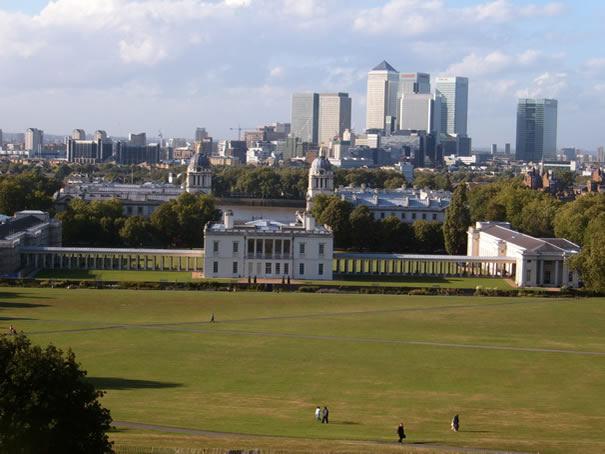 Vistas de Londres desde Greenwich Park