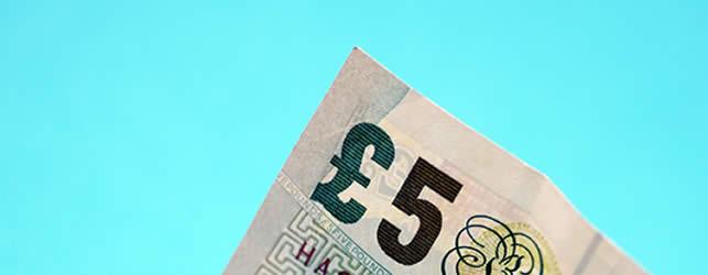 billete de 5 GBP