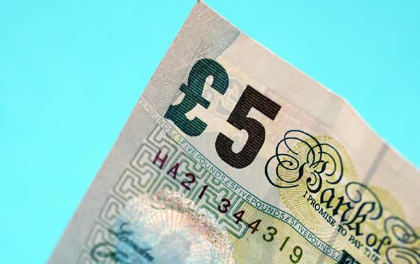 billete de 5 libras esterlinas
