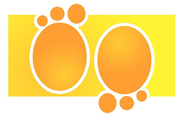 imagen vectorial de huellas