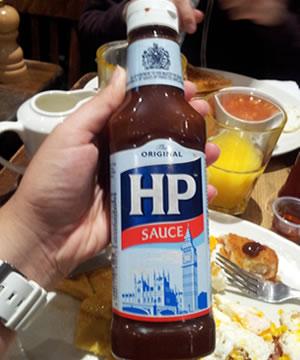 Bote de salsa hp sauce