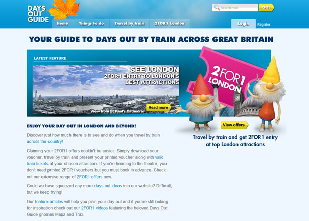 Days Out Guide website