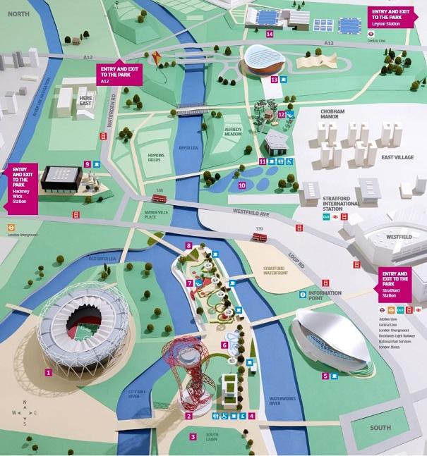 Mapa del Queen Elizabeth Olympic Park