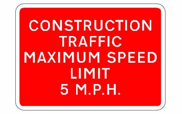 MPH señal de tráfico en UK