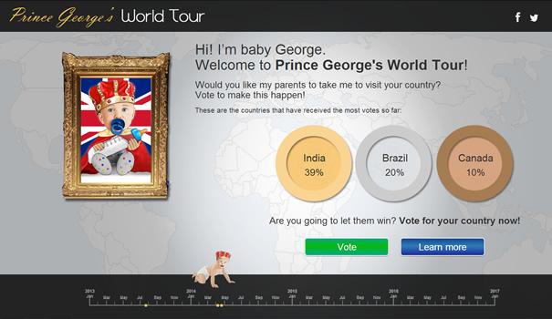 Prince George World Tour - Página web