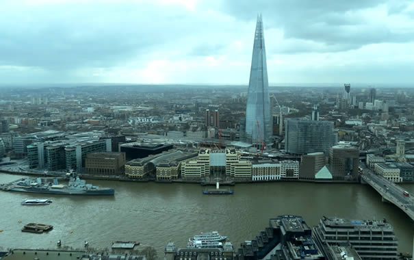 Vistas desde Sky Garden - The Shard y el Támesis