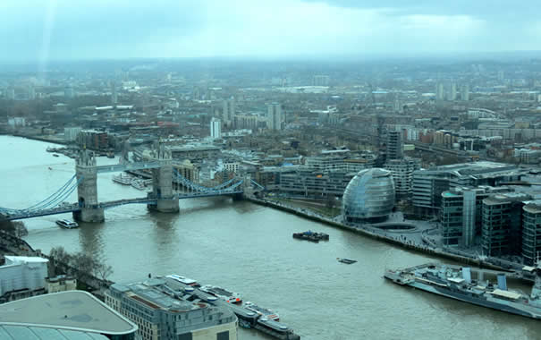 Vista desde Sky Garden - Tower Bridge y The Scoop