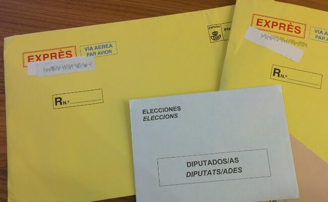 Papeletas para el voto por correo 26J