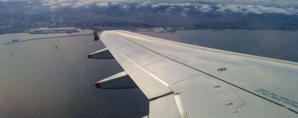 Ala de avión - Llegada a Barcelona