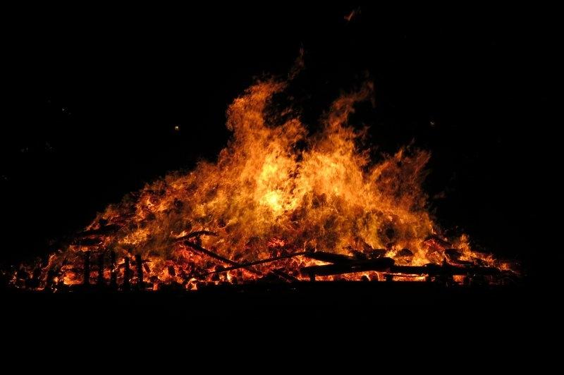 Bonfire Night fire - Battersea Park - London