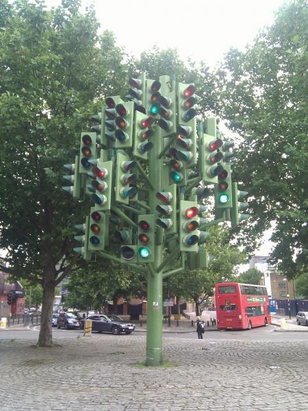 Canary Wharf - El árbol de los semáforos
