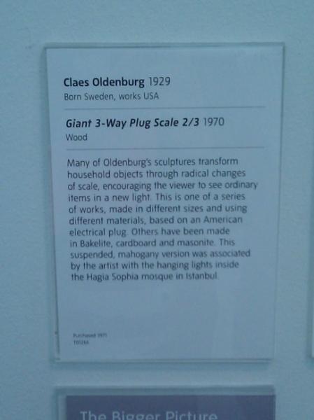 Descripción escultura TATE Modern