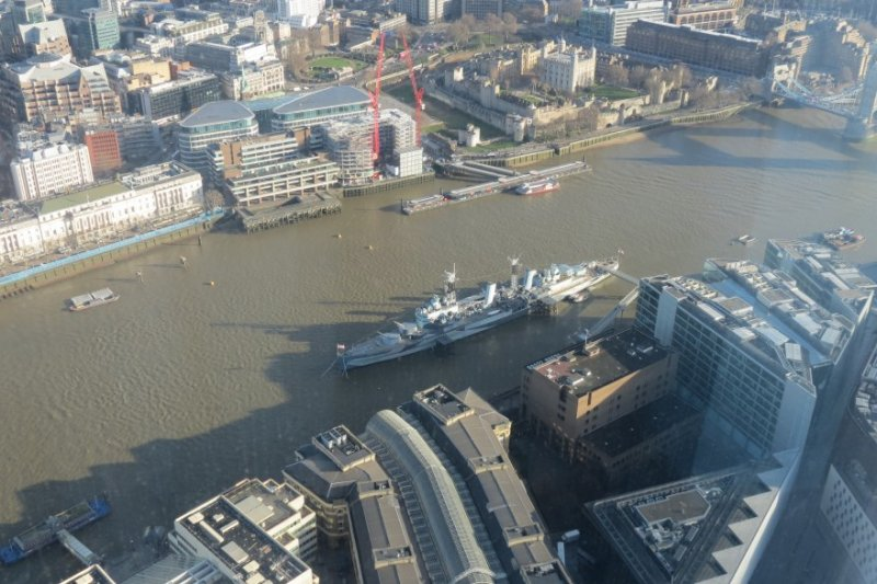 HMS Belfast - The Shard