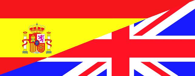 Spain & UK flags