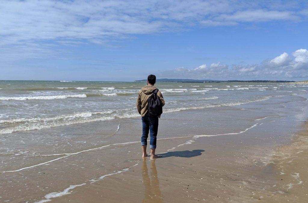 Paseo por la playa de Camber Sands