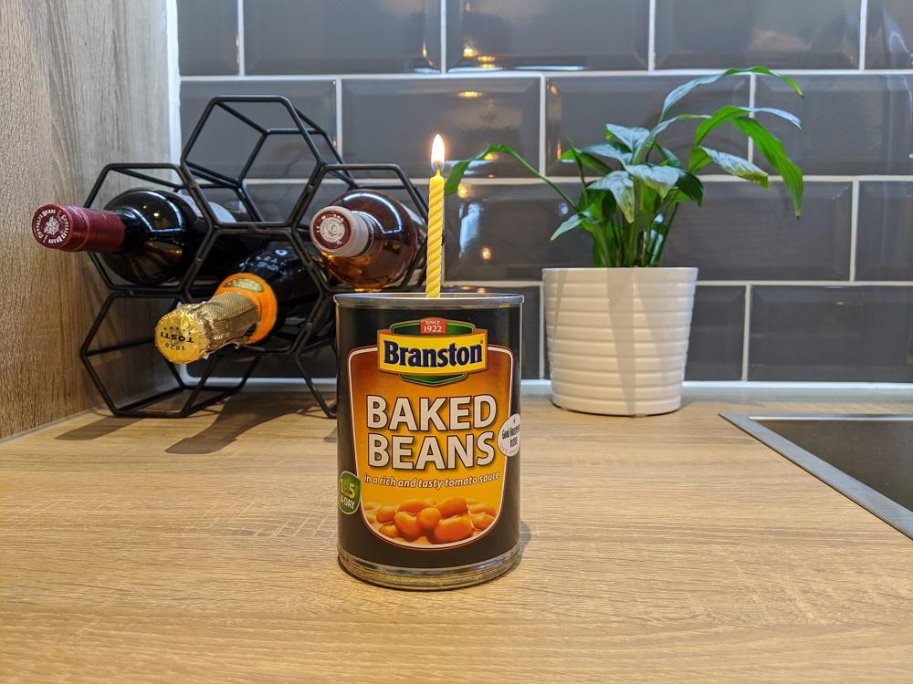 Baked beans para el noveno aniversario en Londres