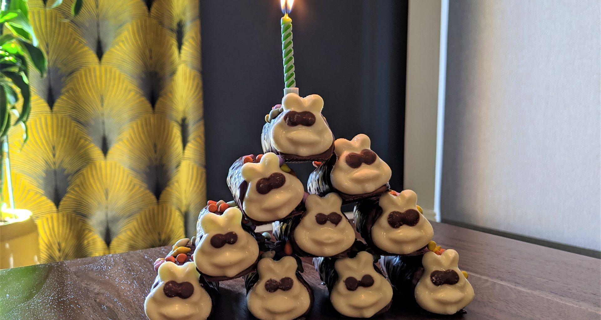 Mini-Colin the Caterpillar cakes